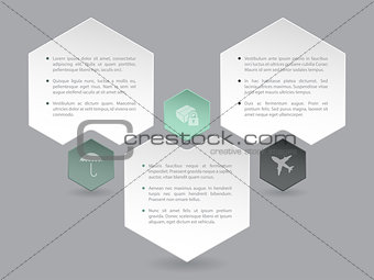 Abstract hexagon infographic design