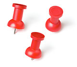 push pin or thumb tack set isolated