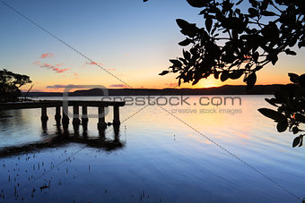 Green Point Jetty at sunset