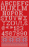 Christmas knitted font in Scandinavian style on background