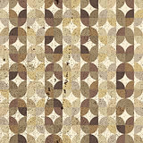 Ornamental worn textile geometric seamless pattern, vector abstr