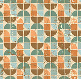 Colorful tattered textile geometric seamless pattern, vector wav