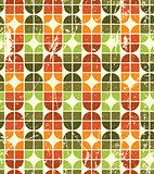 Vintage colorful decorative seamless pattern, rhombic abstract b