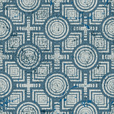 Old geometric seamless pattern, vintage vector repeat background