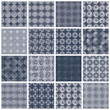 Retro style tiles seamless patterns set 2.