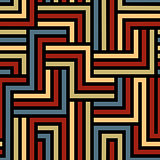 Colorful maze seamless pattern.