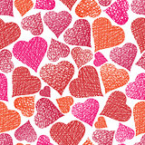 Valentine theme seamless background, hearts seamless pattern, ve
