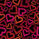 Hearts seamless pattern, Love theme seamless background, vector,