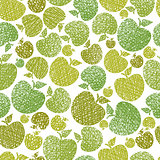 Organic food theme seamless background, Apples seamless pattern,