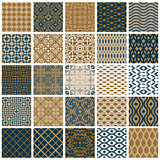 Vintage tiles seamless patterns.
