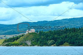 Czorsztyn Castle summer view (Poland).
