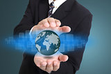 Businessman cover global business internet