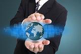 Businessman cover global business internet