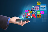 Use finger touch smart phone for serach website