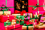 Multitude of Xmas Gifts Spread Out