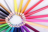 Colorful of pencils in concept all for one