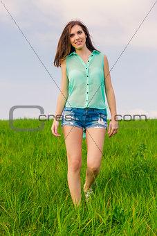 Beautiful girl walking