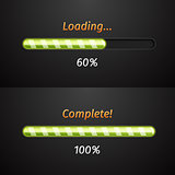 Green vector progress bars