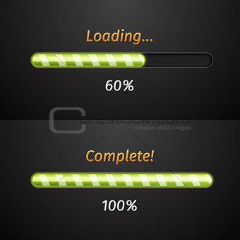 Green vector progress bars