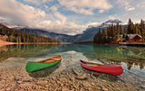 Canoe adventure at Emerald Lake