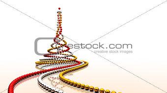 Christmas beads spiral