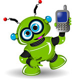 Robot and Phone