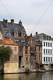 Old historic architecture of Gent, Belgium.