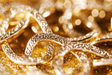 gold jewelery luxury background. golden glitter