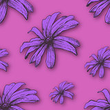 Vector background with hand drawn flowers.
