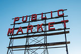 World famous Pike place market in Seattle