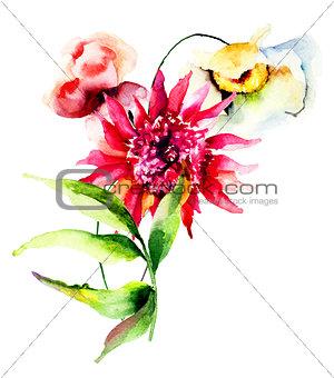 Beautiful wild flowers