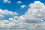 background cloud in blue sky