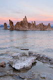 Rock Salt Tufa Formations Sunset Mono Lake California Nature Out