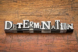 determination word in metal type