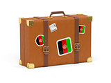 Suitcase with flag of afghanistan