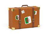 Suitcase with flag of algeria