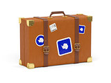 Suitcase with flag of antarctica