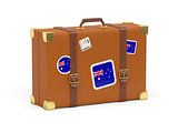 Suitcase with flag of australia
