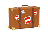 Suitcase with flag of austria