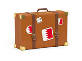 Suitcase with flag of bahrain