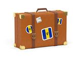 Suitcase with flag of barbados
