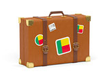 Suitcase with flag of benin