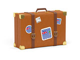 Suitcase with flag of british indian ocean territory