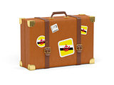 Suitcase with flag of brunei