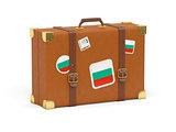 Suitcase with flag of bulgaria