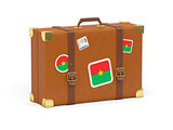 Suitcase with flag of burkina faso