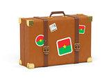Suitcase with flag of burkina faso
