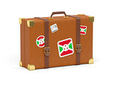 Suitcase with flag of burundi