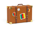 Suitcase with flag of cameroon