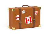 Suitcase with flag of canada